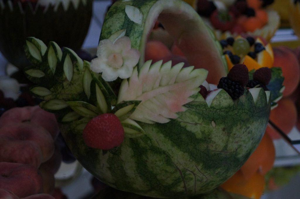 Koszyk z arbuza, carving