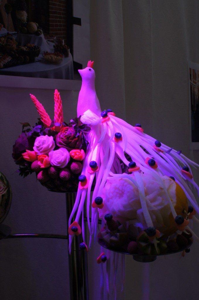 Dekoracja owocowo-warzywna - carving IV Kolska Gala Ślubna