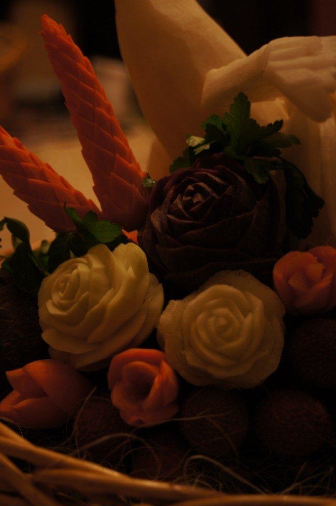 Dekoracje warzywne i owocowe - podziękowania da rodziców, bufety owocowe
