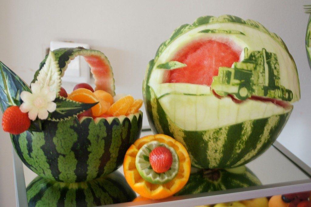 Carving, dekoracje owocowe