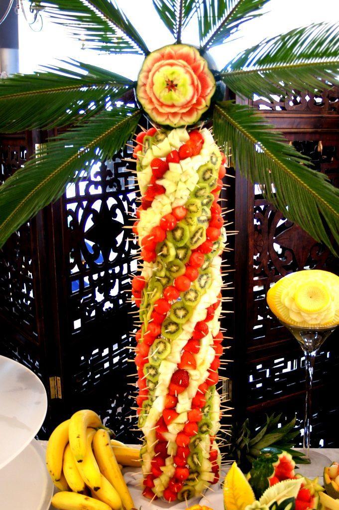 Palma owocowa, carving