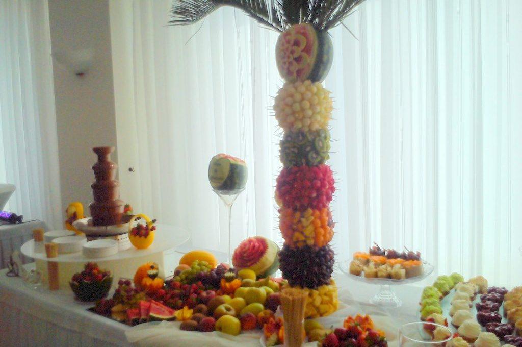 Dekoracje owocowe, owocowe wyspy