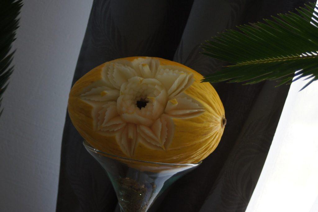 Carving w melonie, dekoracje ślubne