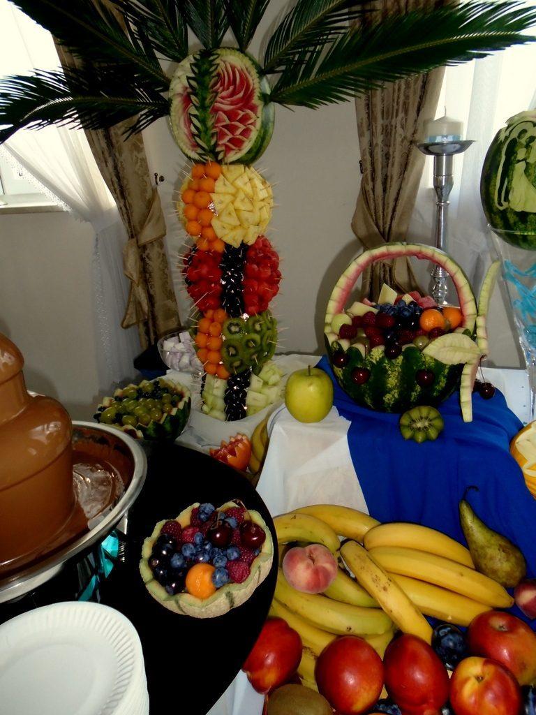 Palma owocowa, dekoracje owocowe