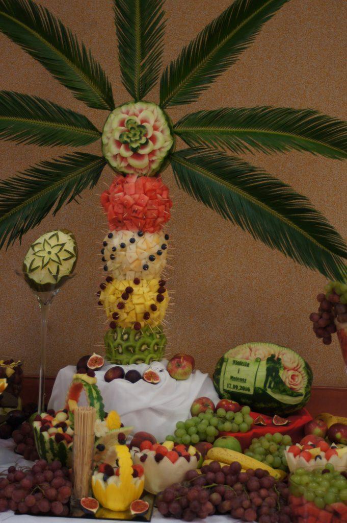 Bufet owocowy, palma owocowa OSP Przykona