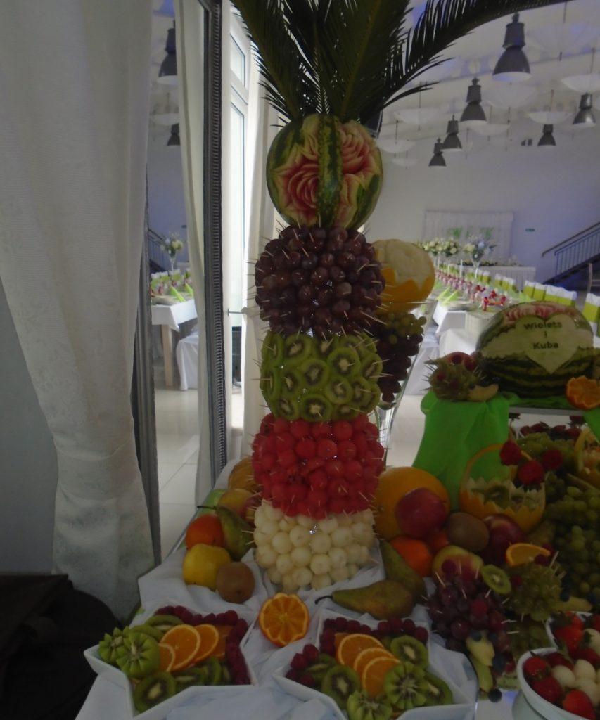 Bufet owocowy, carving, dekoracje owocowe Poznań, Koło, Turek, Włocławek