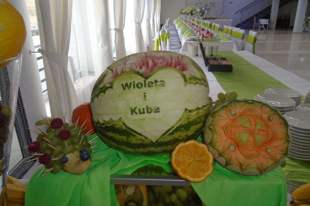 Carving, dekoracje, owocowe Koło, Sompolno, Kłodawa