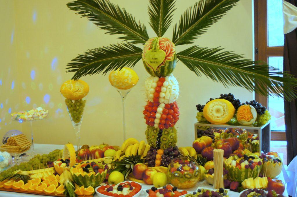 Palma owocowa, dekoracje owocowe Turek, Konin, Kłodawa
