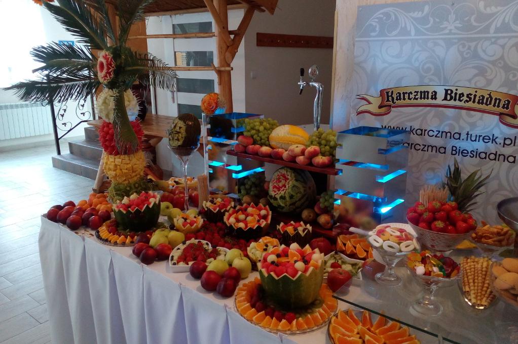 Bufet owocowy, dekoracje z owoców, Turek, Koło, Kalisz