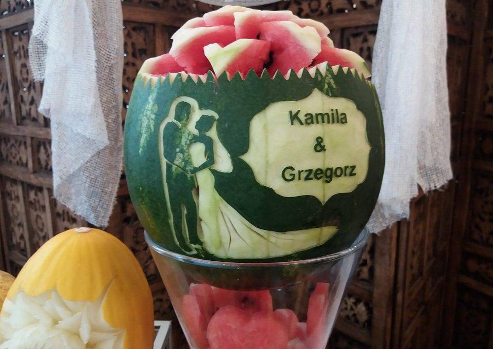 Stół owocowy, carving Tawerna Brześć Kujawski