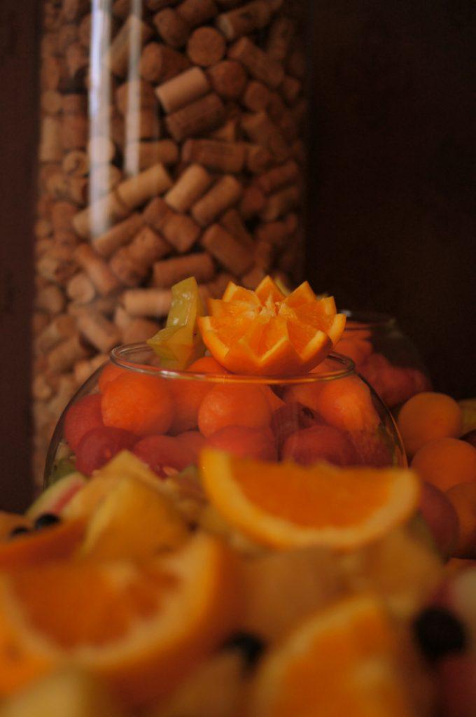 owoce, dekoracje owocowe