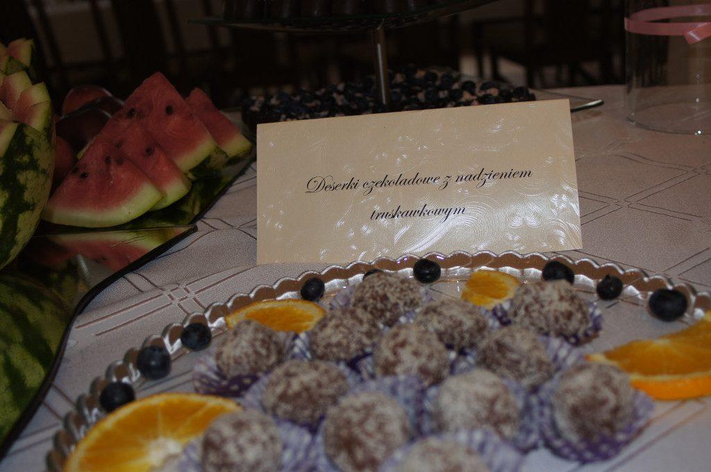 Słodki stół, bufet owocowy Dom Weselny Jola Kolnica k. Brudzewa