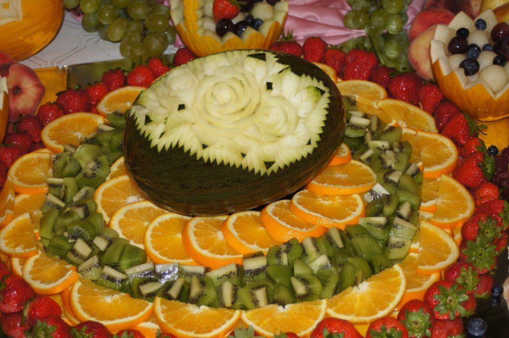 carving, dekoracyjnie wycięte owoce Koło, Turek, Kalisz, Poznań