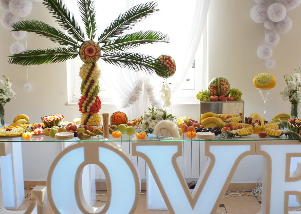 stół z owocami, fontanna czekoladowa, carving, fruit bar, Turek, Koło, Konin, Poznań, Warszawa