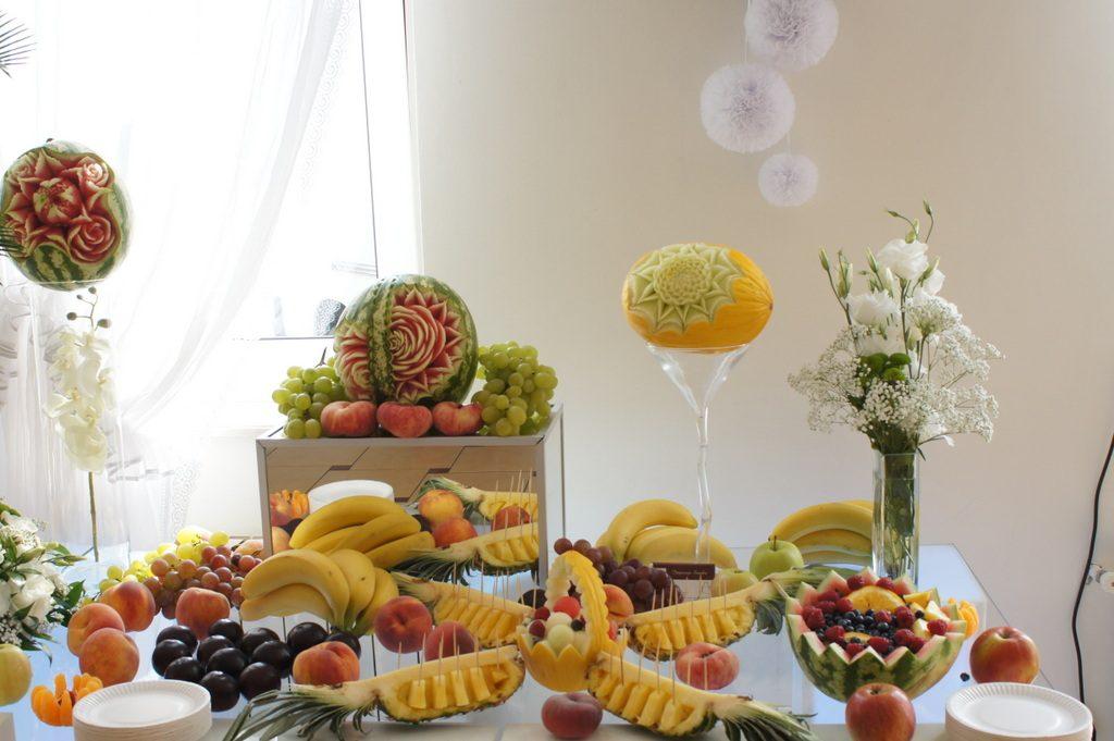 stoły owocowe, carving Koło, Turek, Konin, Sompolno