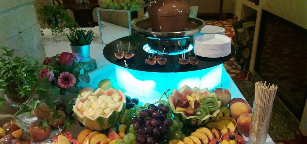 Fontanna czekoladowa, bufet owocowy Rodan k. Kórnika