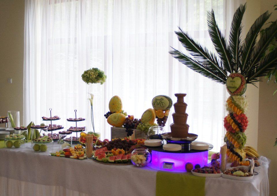stół owocowy, palma owocowa, palma z owoców, słodki stół, candy bar, dekoracje owocowe Turek, Konin, Kłodawa, Kalisz