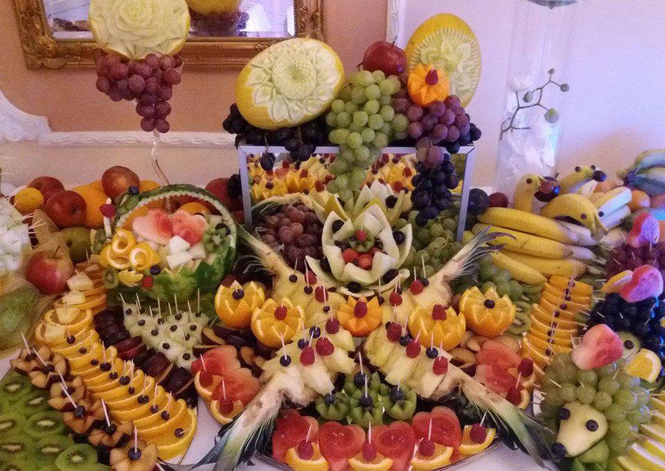 bufet owocowy, dekoracje owocowe, carving Koło, Turek, Konin