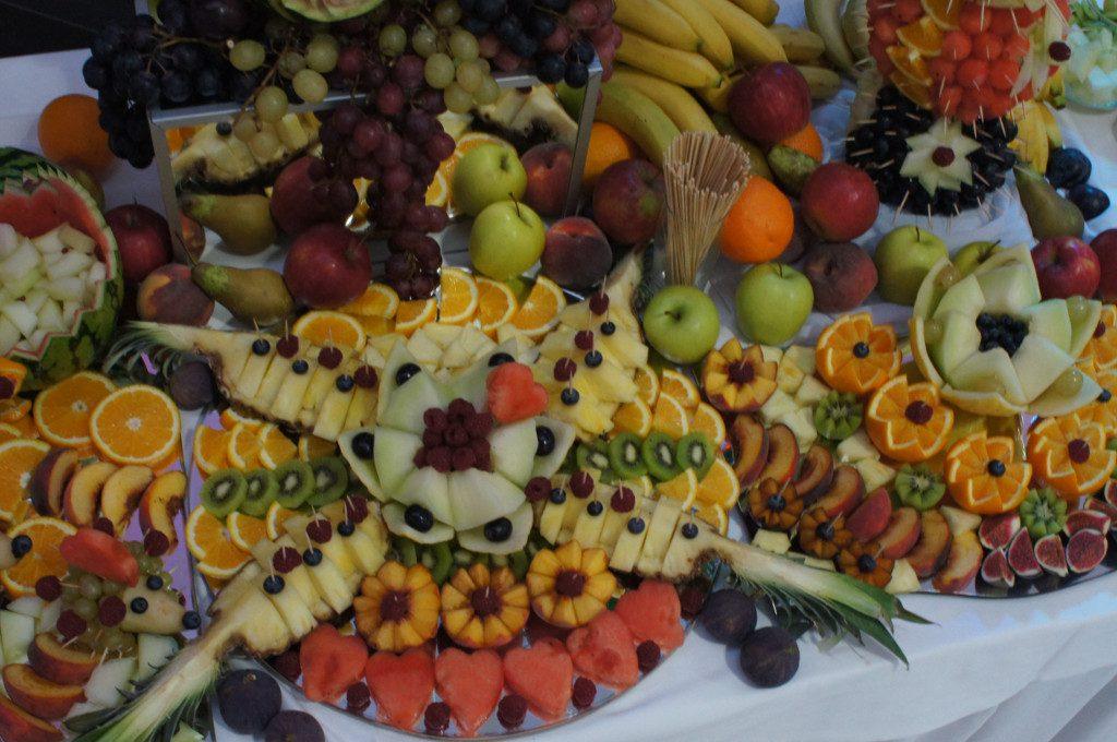 bufet owocowy, stół owocowy, dekoracje z owoców Koło, Turek, Konin, Włocławek