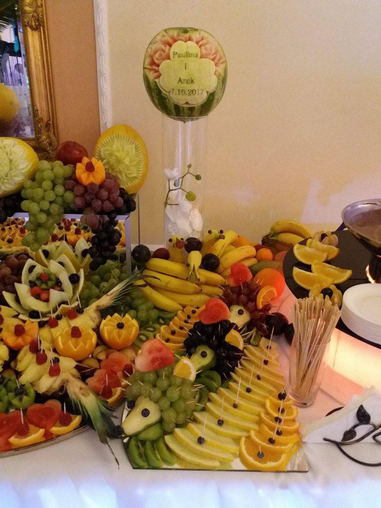dekoracje owocowe, carving, palmy owocowe Turek, Sompolno, Koło