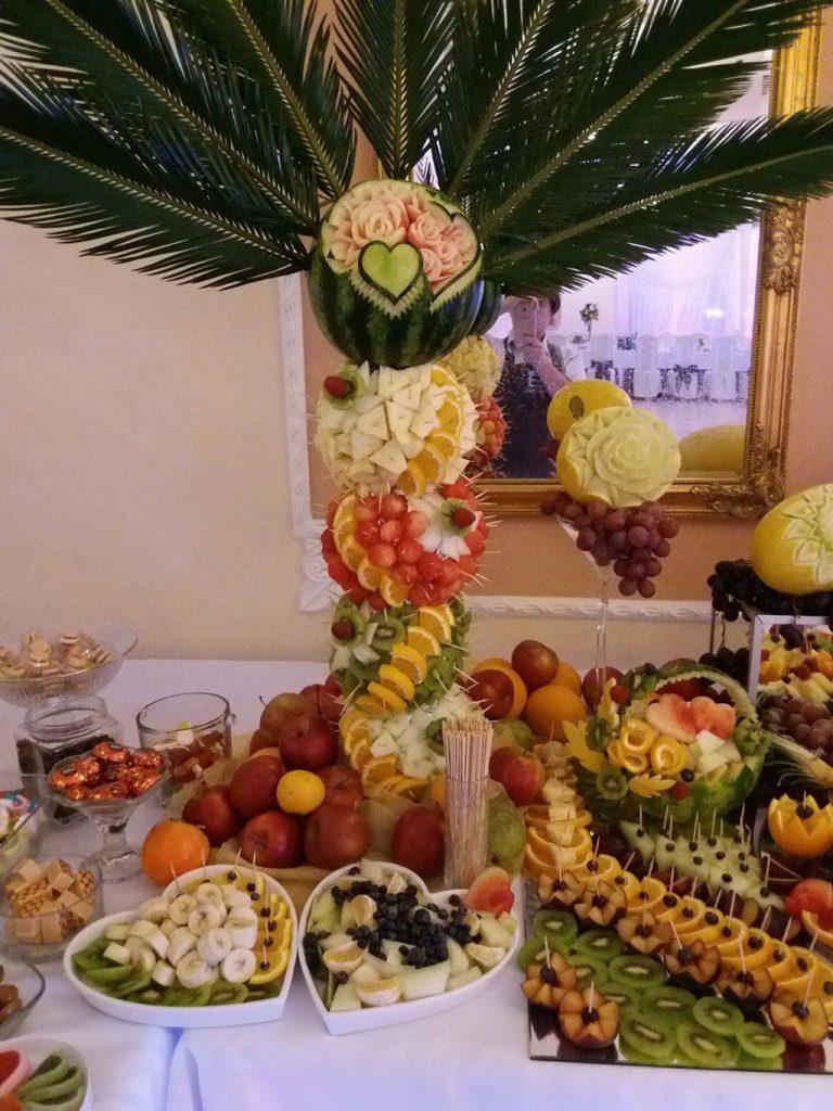 palmy owocowe, dekoracje owocowe, carving Koło, Turek, Kalisz