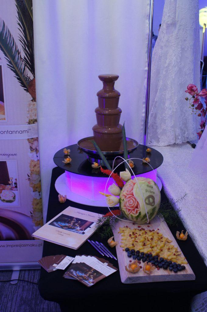 Fontanna czekoladowa, dekoracje owocowe, bufety owocowe, stoły owocowe Koło, Turek, Konin, Sompolno