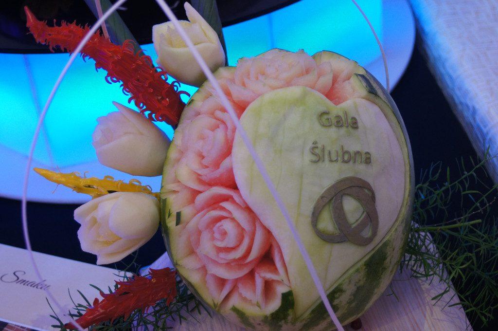 dekoracje owocowe, carving, gala ślubna Koło, Turek, Konin, Kłodawa