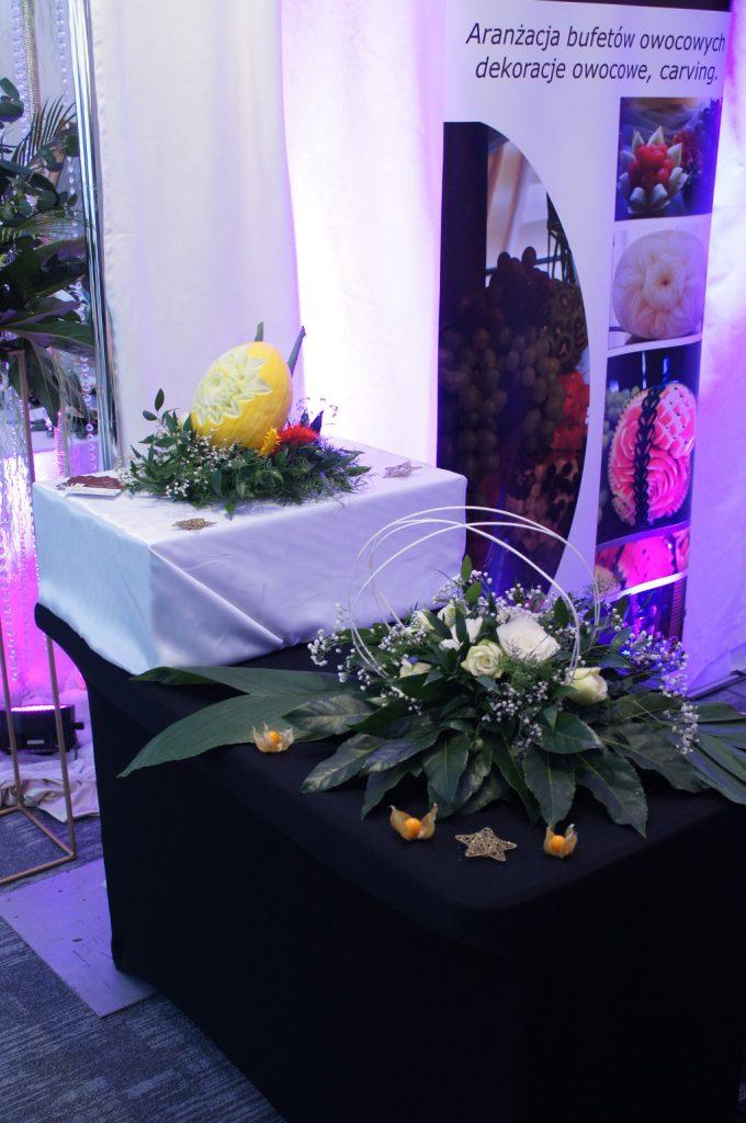 dekoracje owocowe i warzywne, carving, florystyka ślubna Koło, Turek, Konin, Sompolno
