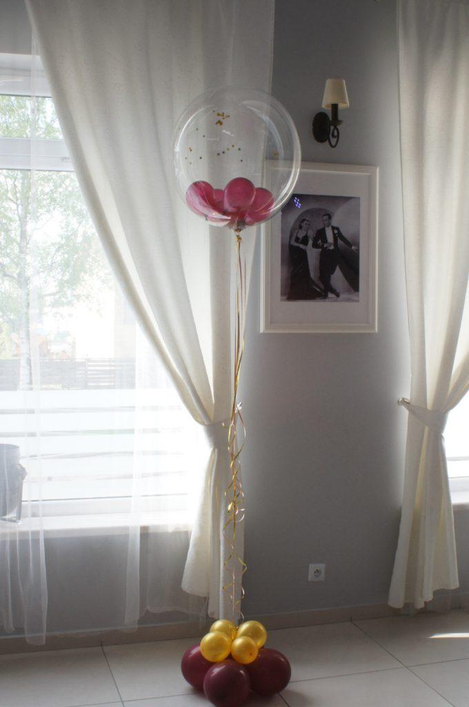 Dekoracje balonowe sal, balony z helem, pudło-prezent balonowy, Koło, Konin, Turek, Kłodawa
