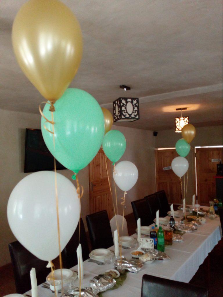 balony z helem, stroiki balonowe, dekoracje balonowe sal Turek, Koło, Konin, Kłodawa