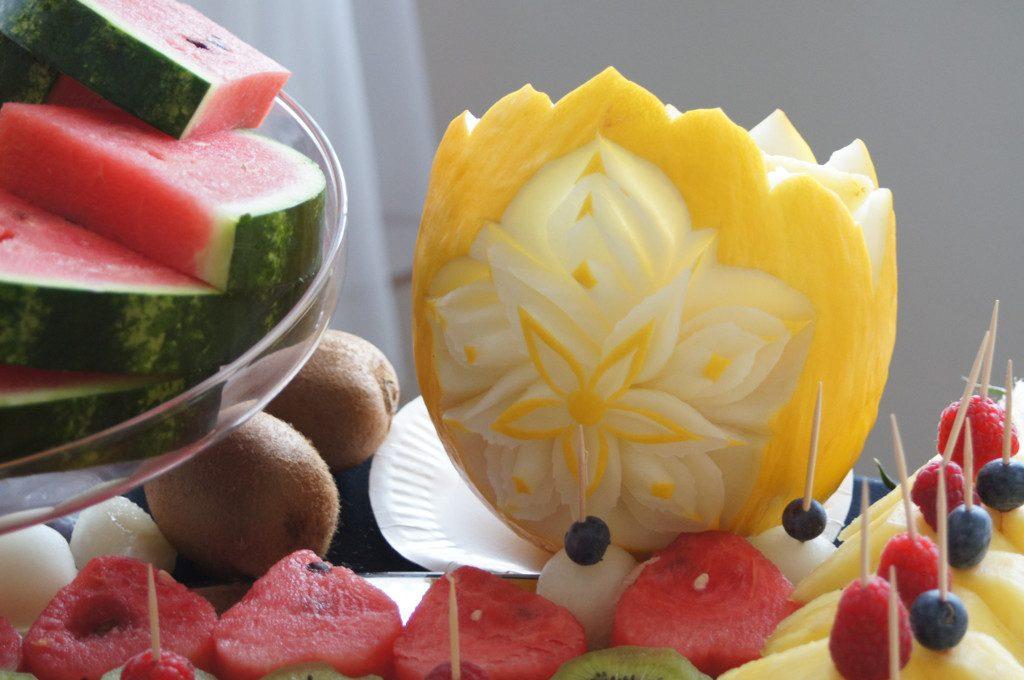 bufet owocowy, fruit carving na wesele, bankiet, 18stkę, komunię Koło, Turek, Łódź, Słupca