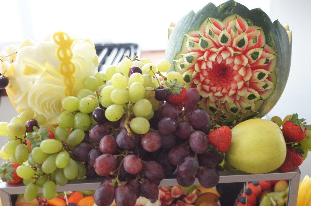 carving, dekoracje owocowe, stół z owocami Turek, Koło, Kłodawa, Słupca