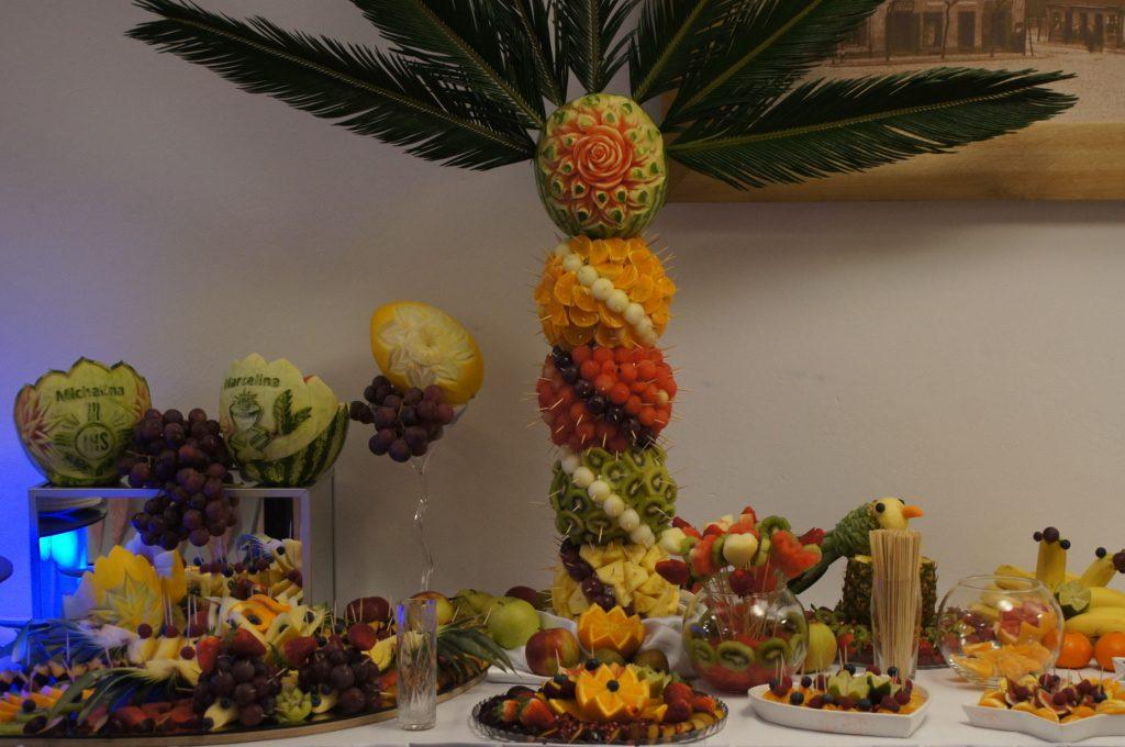 carving, stół owocowy, bufet owocowy, dekoracje owocowe, Turkovia