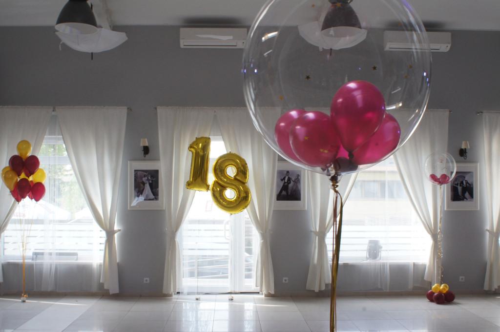 dekoracje balonowe, balony z helem na 18stke Koło, Turek, Konin, Kłodawa