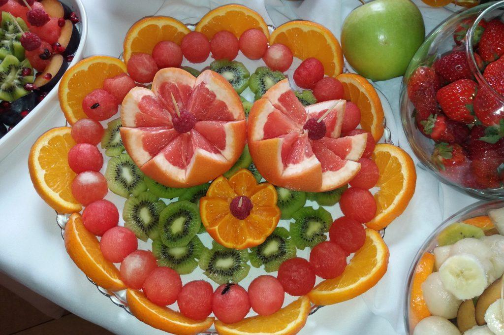 dekoracje owocowe, stół owocowy, Izbica Kujawska, Kłodawa, Koło, Turek