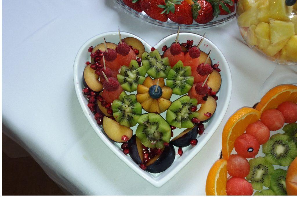 dekoracje owocowe, stół z owocami, palma owocowa Koło, Konin, Turek, Sompolno, Kłodawa