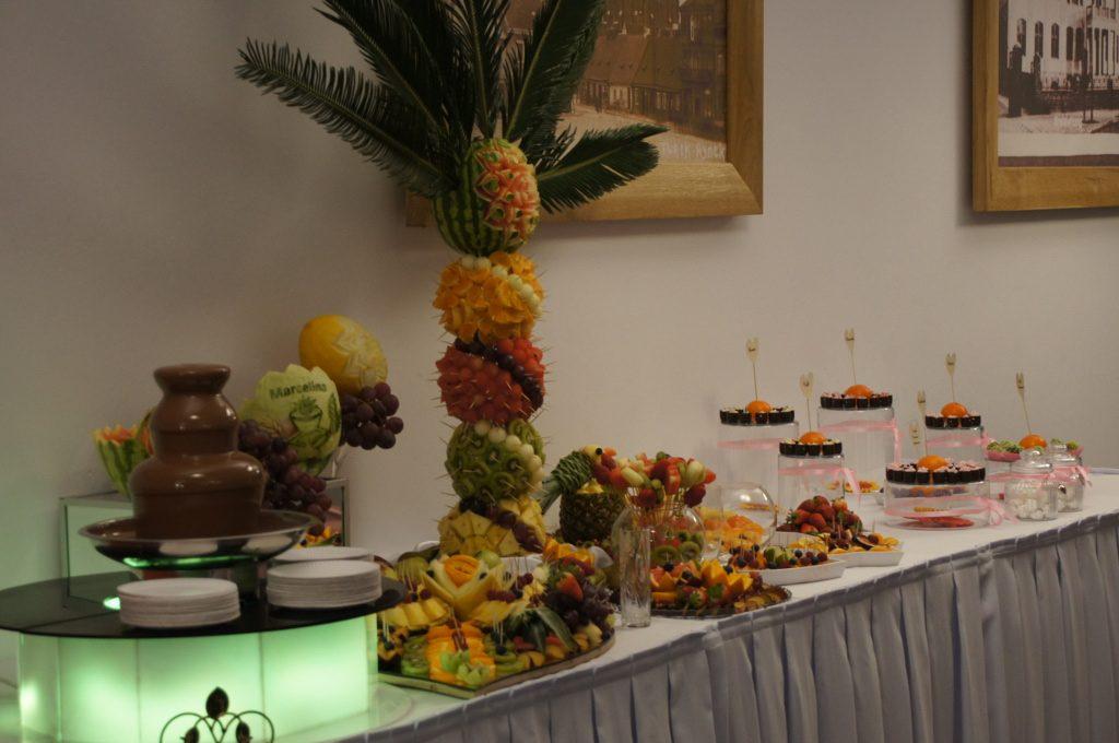 fontanna czekoladowa, bufet owocowy, candy-bar Turkovia