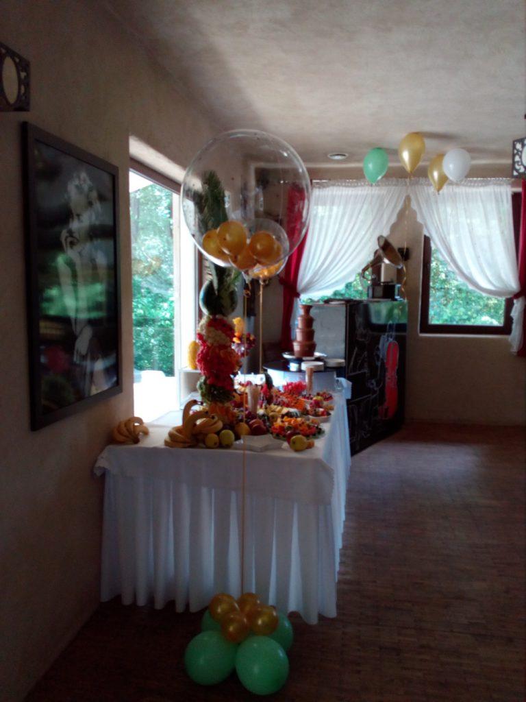 fontanna czekoladowa, bufet owocowy, dekoracje balonowe Łódź, Turek, Koło, Konin
