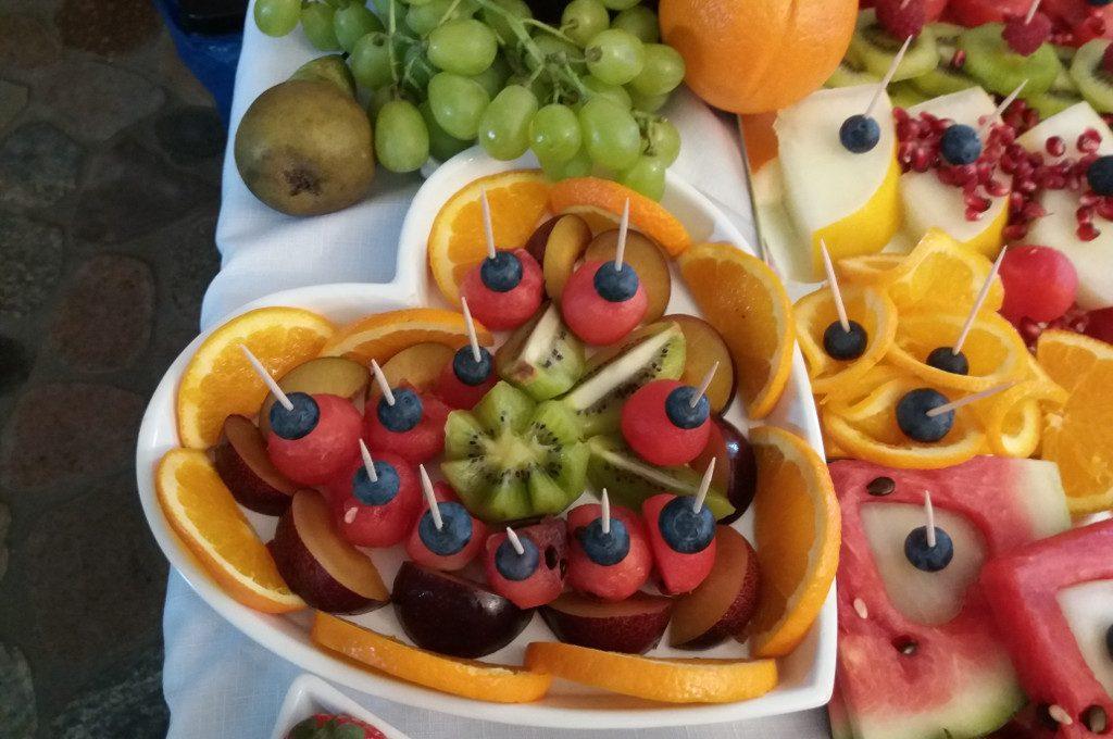 carving, bufet owocowy, stół owocowy Turek, Kłodawa, Sompolno
