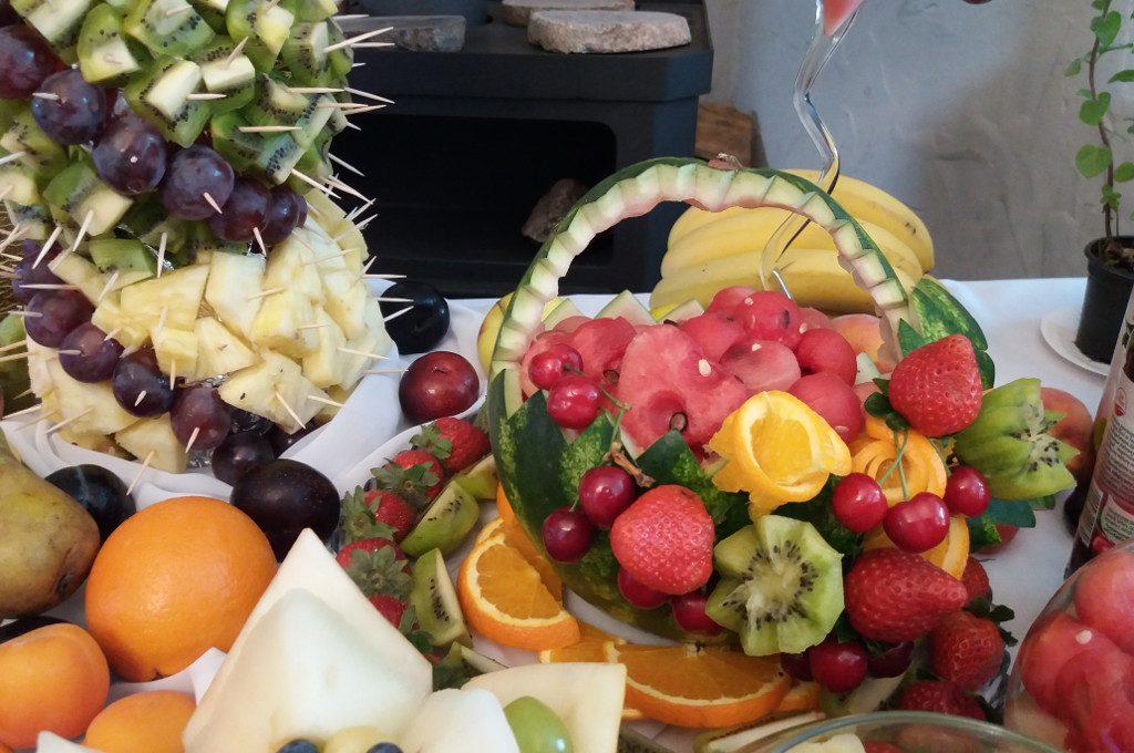 dekoracje owocowe, stół owocowy Koło, Turek, Łódź, Milicz