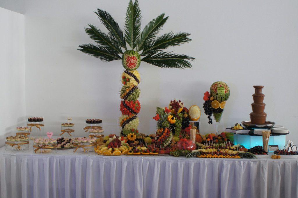 Candy-Bar, Fruit Bar, bufet owocowy, fontanna czekoladowa Hacjenda Malanów