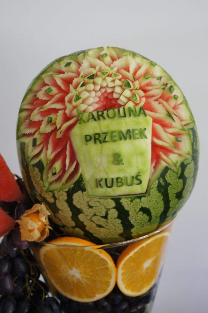 Fruit carving, deoracje owocowe, carving na ślub, Turek, Poznań, Włocławek, Łódź