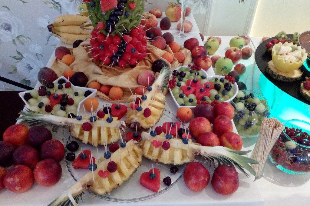 dekoracje owocowe, bufet owocowy Amuza w Grudziądzu