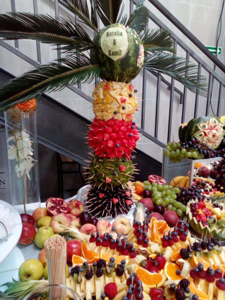 palma owocowa, fruit carving, Turek, Koło, Łódź, Kalisz, Poznań, Warszawa
