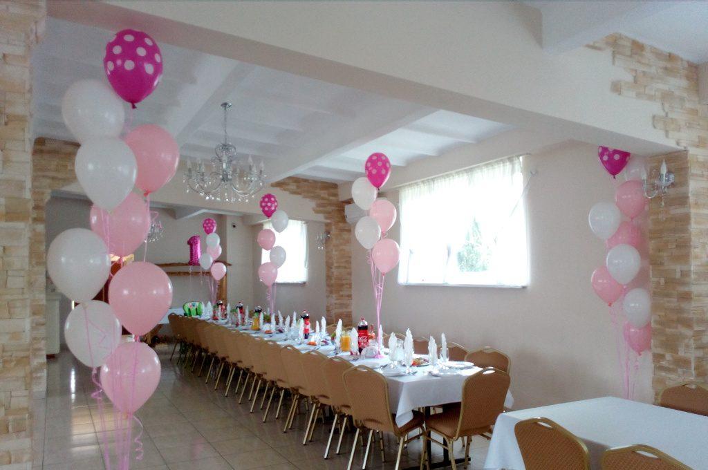 dekoracje balonowe dla dziewczynki, dekoracje z balonów na roczek Koło, Kłodawa, Turek, Konin