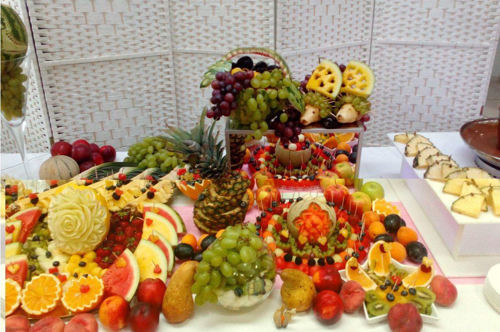 dekoracje owocowe, fruit bar, bufet owocowy, fruit carving