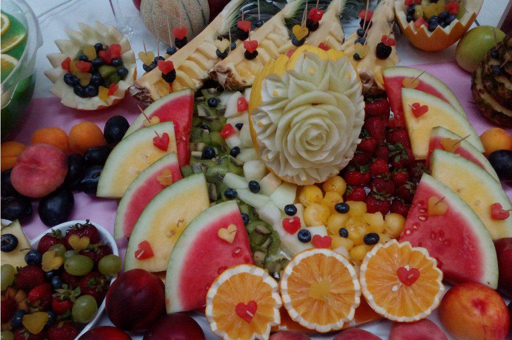 fruit bar, stół owocowy, bufet owocowy, fruit carving