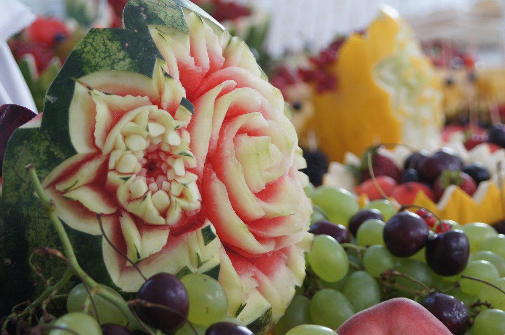 fruit carving, dekoracje owocowe Włocławek, Turek, Konin, Poznań