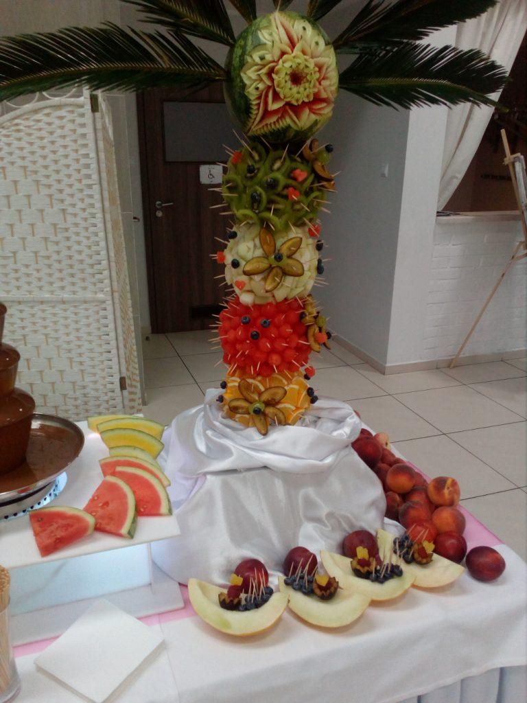 palma owocowa, palma z owoców, fruit carving, dekoracje owocowe Turek, Koło, Konin
