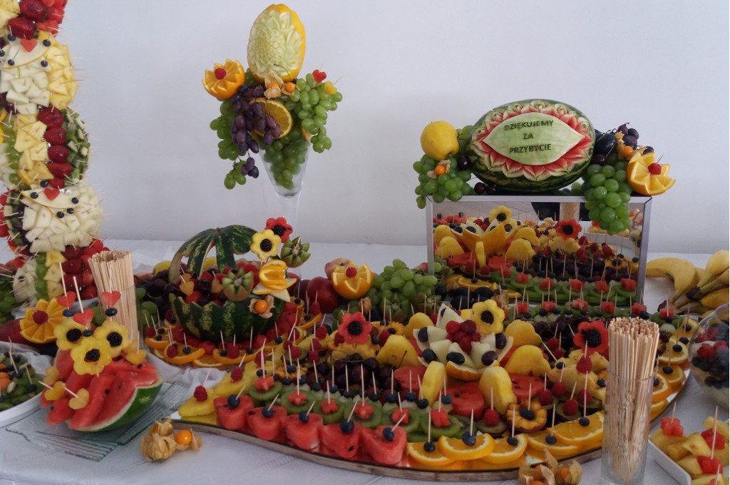 stół z owocami, bufet owocowy, fruit bar, carving Turek, Koło, Konin, Warszawa, Poznań